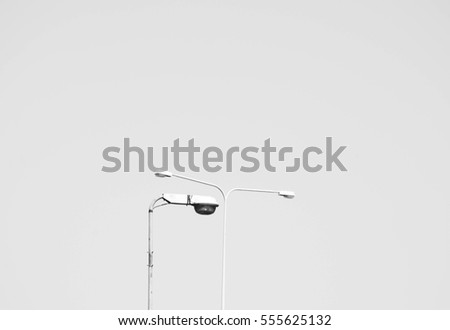 street lamp post isolated on a white background