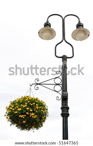 Street Lamp with Flower Basket
