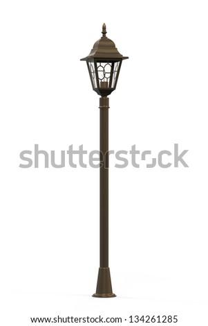 street lamppost isolated on...
