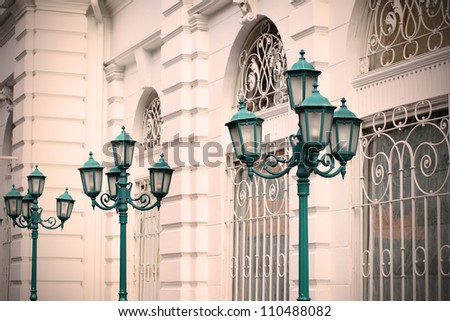 Street Lamps in old town