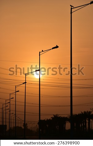 stock-photo-street-lamps-with-sunset-and-high-voltage-power-wires-276398900.jpg