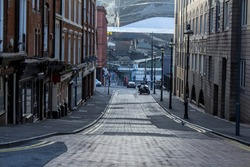 Street leading to Birmingham new street station