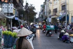 Street life of Hanoi city