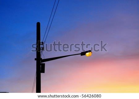 street light against a sky background