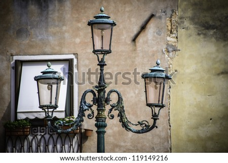 Street light detail, Venice, Italy