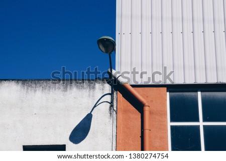 street light in Bilbao city Spain, street lamp in the street