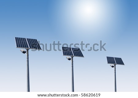 street light with solar panel 01