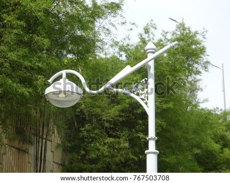 Street lighting during daytime. Purpose to provide light at night to the roads or building compound.    #767503708