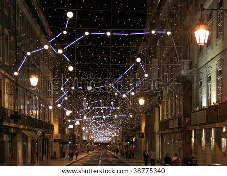 Street lighting in Lisbon