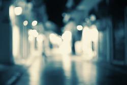 Street lights bokeh background.