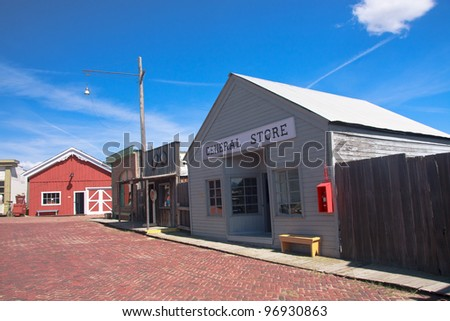 Street of an old town at The World Museum Of Mining, Butte, Montana