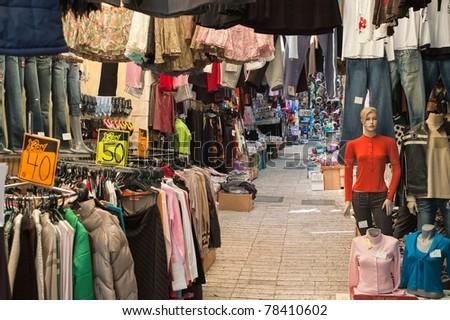 Street of an oriental bazaar
