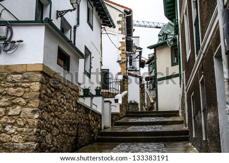 Street of Getxo (Vizcaya). A fishing village in the nort of the Basque Country in Spain. #133383191