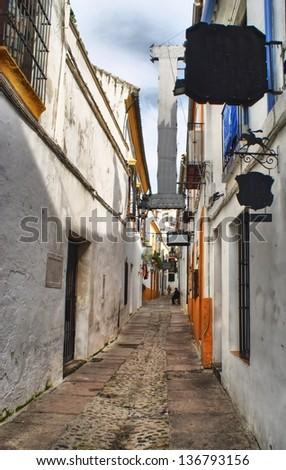 Street of jewish quarter in Cordoba, Spain