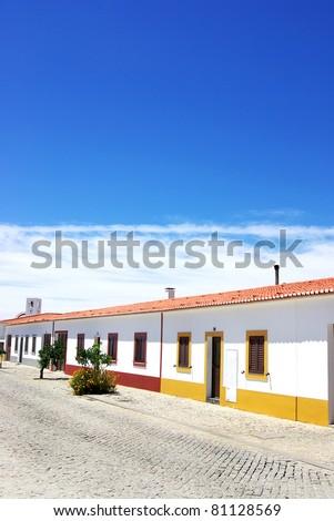 Street of Luz village, Alentejo,Portugal.