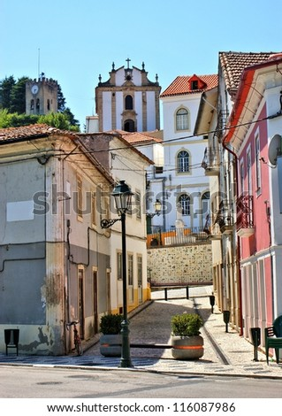 Street of Miranda do Corvo in Portugal