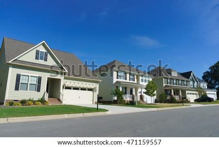 Street of residential houses #471159557