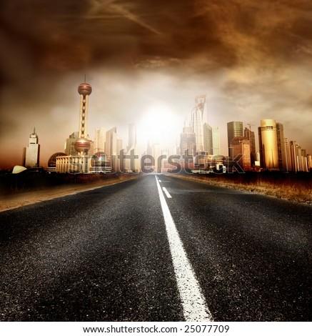 street of shanghai