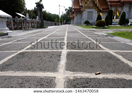 Street of sight,empty street ,street in the temple ,Thailand.