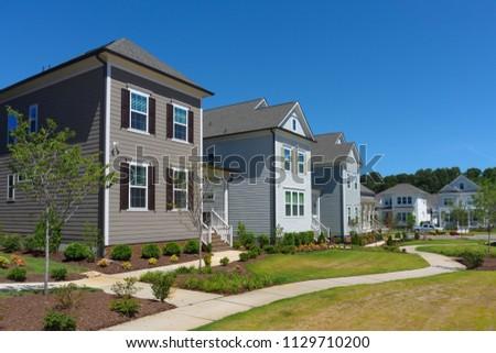 Street of suburban homes #1129710200