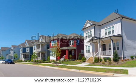 Street of suburban homes #1129710209