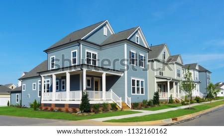Street of suburban homes #1132160162