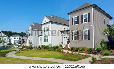 Street of suburban homes #1132160165