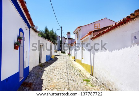 Street of Terena village, south of Portugal