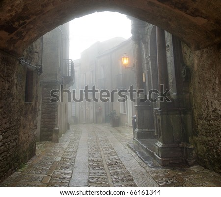 street of the medieval town of Erice