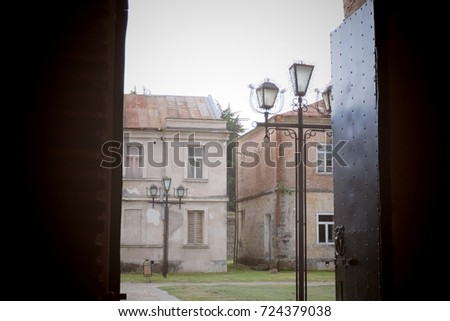 street of the medieval town (old town) #724379038