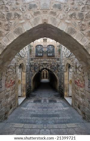 Street of the Old City of Jerusalem.