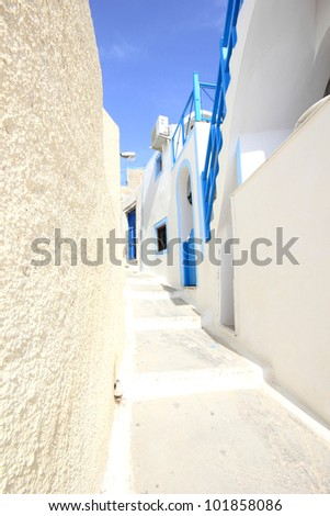 Street on the island of Santorini in Greece