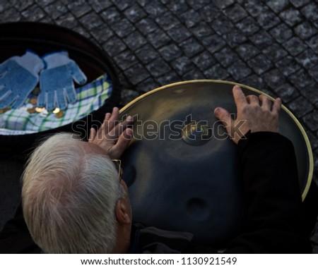 Street Performer in Prague  #1130921549