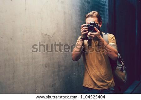 Street photographer journalist backpack