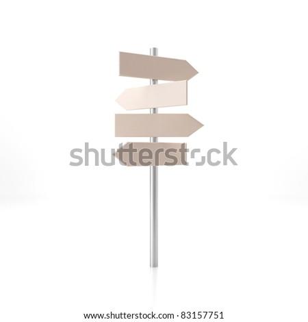 Street pointer. 3d render illustration