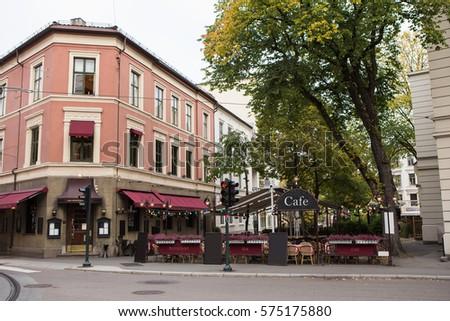 street restaurant in europe.