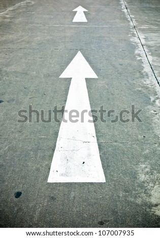 street, road, arrow direction