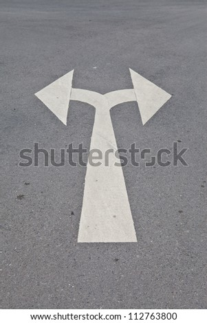 Street, road, arrow direction