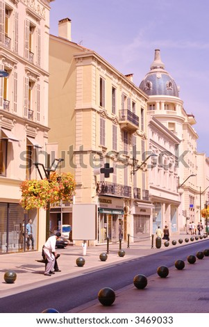 Street scene from Cannes, France