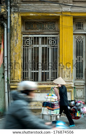 Street scene in Hanoi, Vietnam