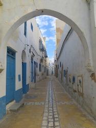 Street scene in Kairouan, Tunisia