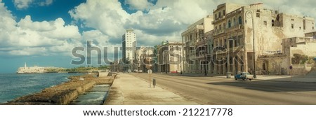street scene in old havana with ...