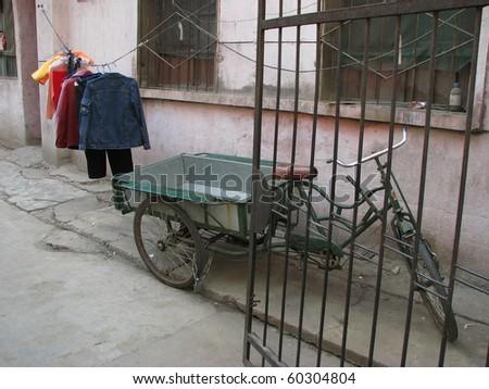 Street scene in Xi'an, China. - stock photo