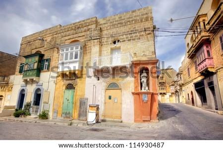 street scene on the island of Gozo, Malta - stock photo