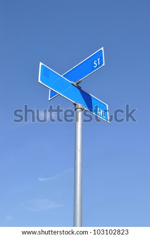 Street Sign Blue Sky