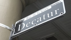Street sign Decatur street in New Orleans