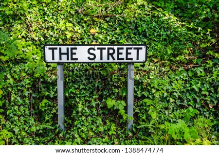"Street sign for a street called ""The Street"" #1388474774"
