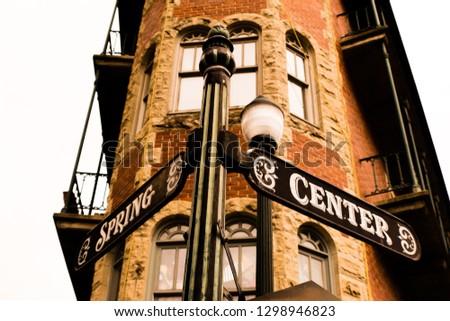 Street sign in downtown Eureka Springs, Arkansas