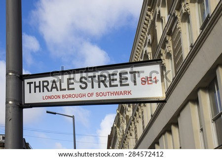 Street sign in London
