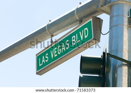 Street sign of Las vegas Boulevard